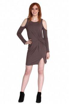 Cold Shoulder Twist Dress by Cherish