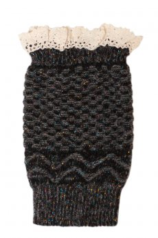 Crochet Top Metallic Boot Cuff by Love Of Fashion