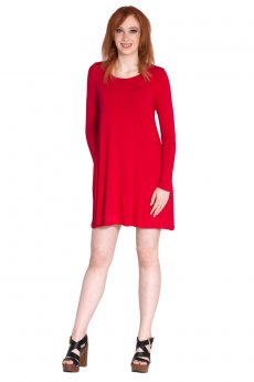 Round Neck Pocket Dress by Cherish