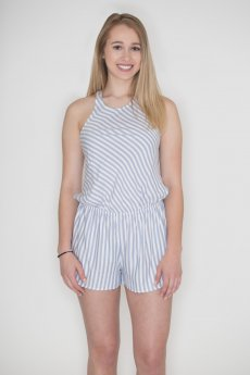 Striped Criss-Cross Romper by Cherish