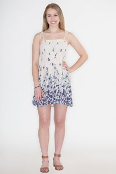 Floral Crepe Dress by Timing