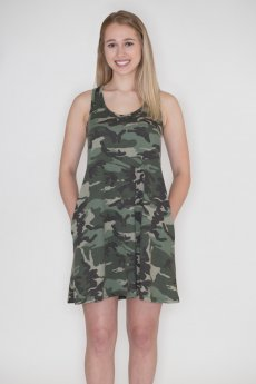 Camouflage Tank Dress by Cherish