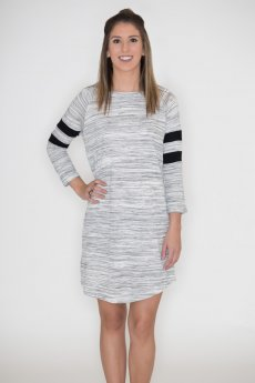 Striped Raglan Dress by Cherish