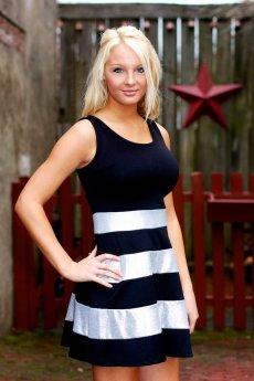 Striped A-Line Tank Dress by Vanilla Bay