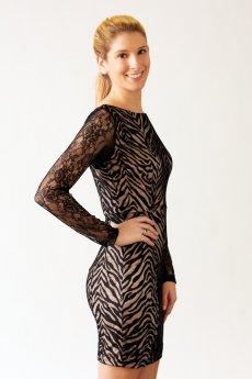 Zebra Lace Overlay Dress by NikiBiki