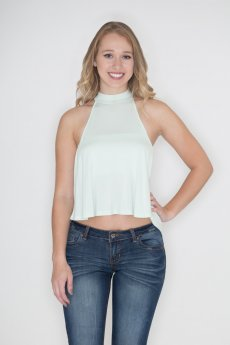Keyhole Crop Top by Zenana