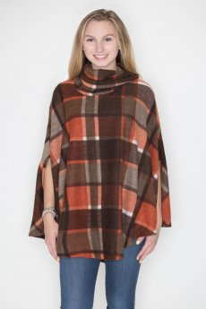 Plaid Poncho by Cherish