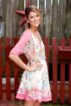 Watercolor Floral Layered Front Dress by TCEC