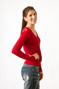 Luxe V-Neck Sweater by Wow Couture
