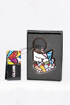 Romero Britto Cat Keychain