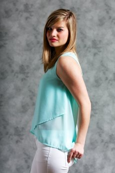 Tier Detail Sleeveless Top by Ya Los Angeles