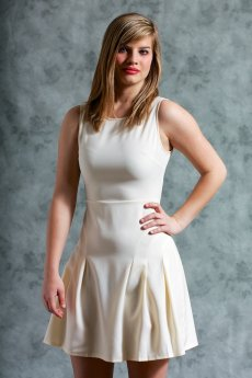 Sleeveless Flared Dress With Seam Detailing by Ya Los Angeles
