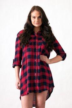 Plaid Shirt Dress by Re-Order