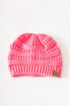 Candy Pink CC Knit Beanie