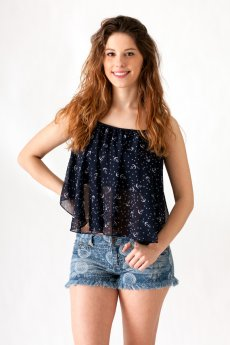 Anchor And Star Print Tank Top by Ocean Drive