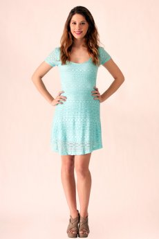 Crochet Tie Back Dress by Ocean Drive