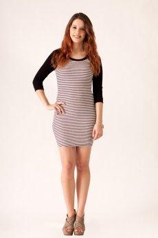 Striped Raglan Dress by Cherish