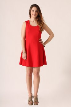 Textured Little Red Dress by She and Sky