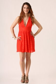 Lace Halter Dress by She and Sky