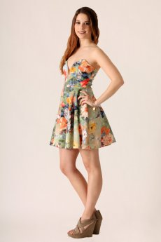 Floral Fit And Flare Dress by Blue Blush