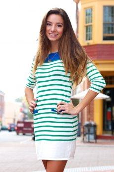 Striped Sweater Dress by Ellison