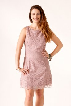 Tile-Lace Embroidered Dress by NikiBiki
