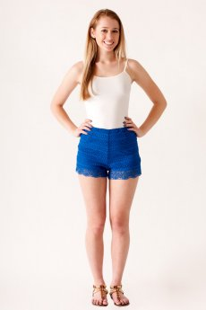 High Waisted Crochet Shorts by HYFVE
