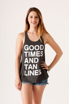Good Times Tan Lines Tank by Active Pro