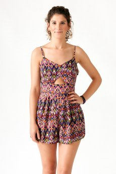 Geometric Print Romper by Very J