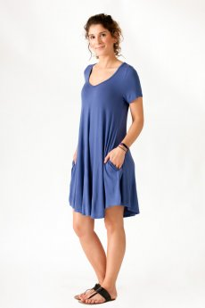 V-Neck Jersey Dress by Cherish