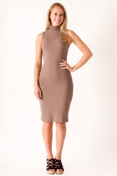 Turtleneck Bodycon Midi Dress by She and Sky