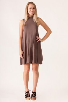 Mock Neck Swing Dress by Cherish