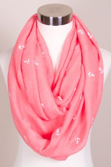 Nautical Anchor Infinity Scarf by Love of Fashion