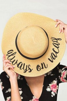 Always On Vacay Straw Hat by C.C.