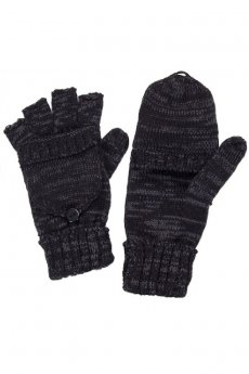 Black Convertible Fingerless Gloves by C.C.