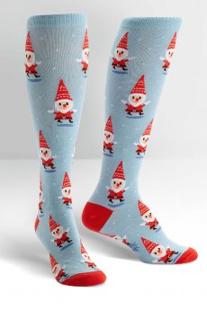 Santa Gnome Socks by Sock It To Me