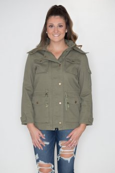 Anorak Drawstring Jacket by Cielo Jeans