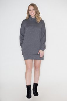Cowl Neck Sweatshirt Dress by Cherish