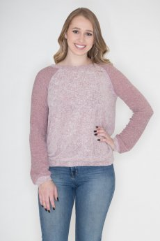 Fluff Raglan Top by Cherish