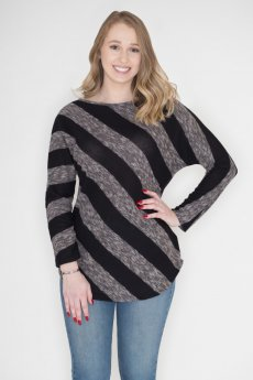 Diagonal Striped Top by Cherish