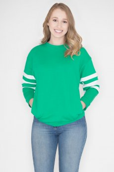 Striped Sleeve Sweatshirt by Cherish