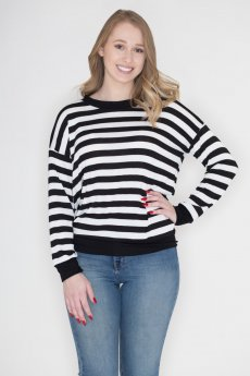 Black And White Stripe Top by Cherish