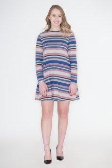 Striped Elbow Patch Dress by Cherish