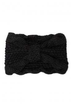Black Bow Knit Headband