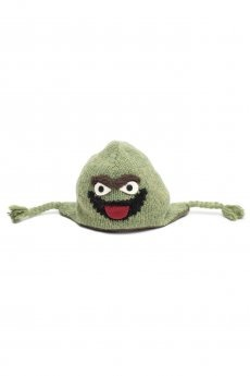 Oscar the Grouch Pilot Hat by Delux Knitwits