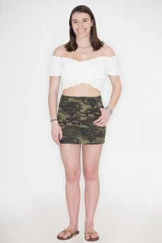 Camouflage Skirt by Wild Honey
