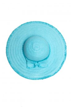 Aqua Bow Straw Hat by Something Special