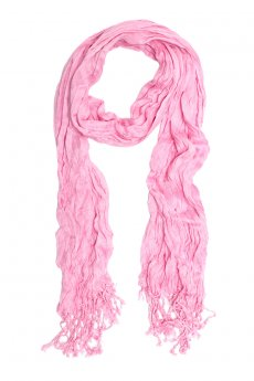 Pink Crinkle Scarf by Do Everything in Love