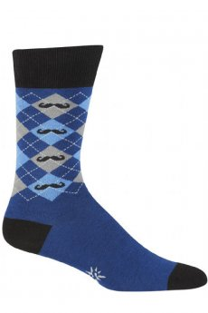Argyle Mustache Socks by Sock It To Me