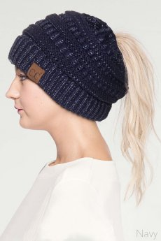 Messy Bun Beanie Tail by C.C.